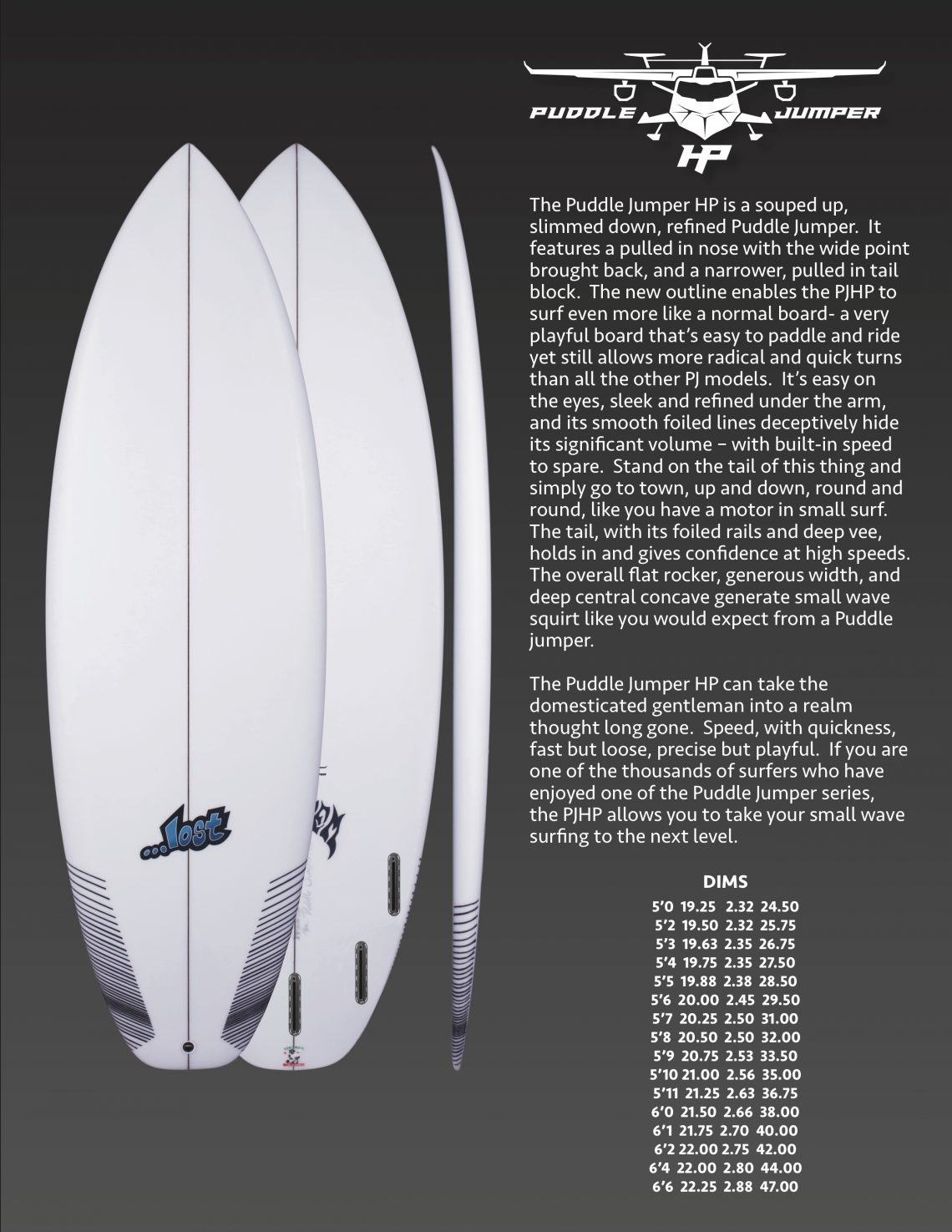NEW…LOST – Puddle Jumper – High Performance – PJHP – Surf Deli ... e5c1e5ff6